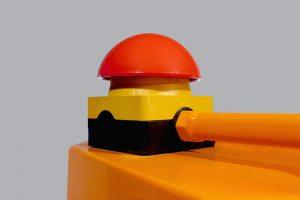 Dispositif de sécurité partie haute broyeur - Arrêt d'urgence coup de poing
